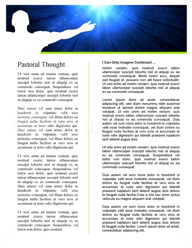 I Can Only Imagine Church Newsletter | page 2