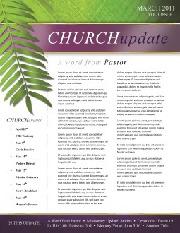 Palm Sunday Church Newsletter Template