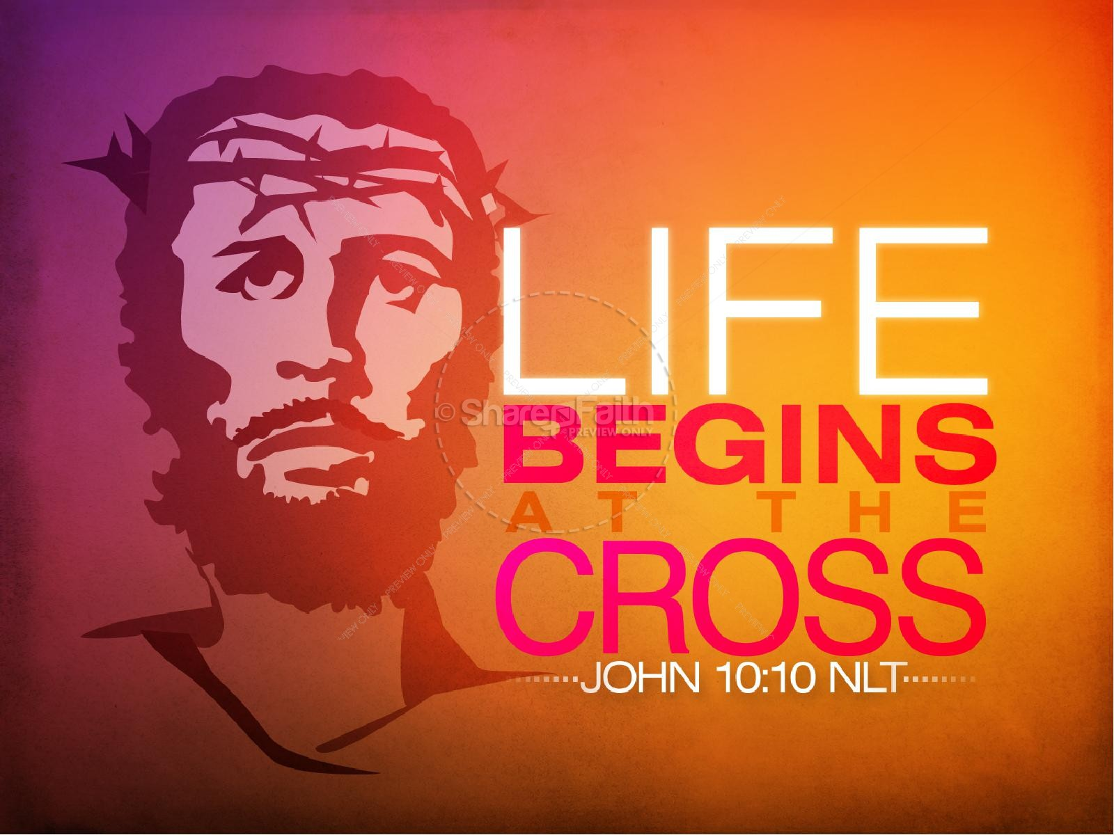 Jesus on the cross powerpoint template easter sunday jesus on the cross powerpoint template toneelgroepblik Gallery