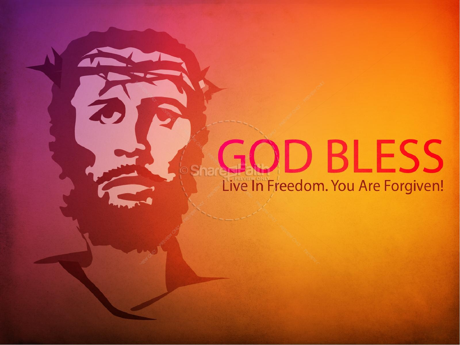 Jesus on the Cross PowerPoint Template | slide 3