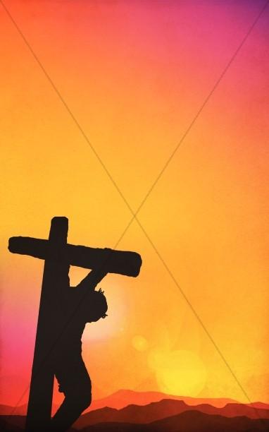 The Cross Easter Church Bulletin Cover