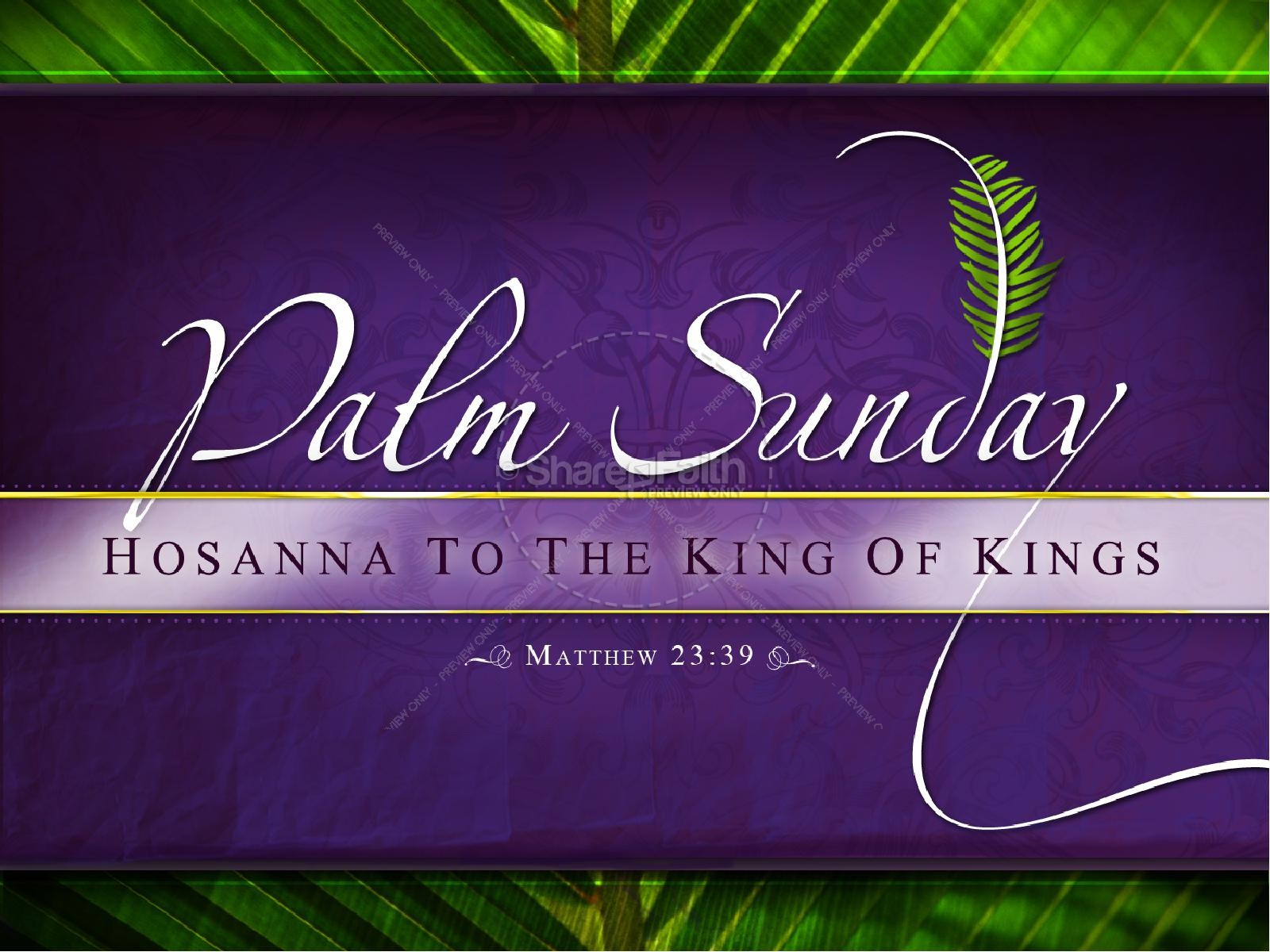 Palm Sunday PowerPoint Template | slide 1