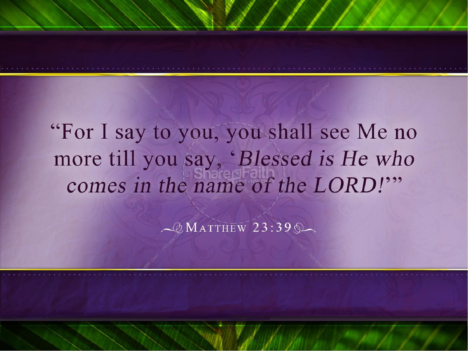Palm Sunday PowerPoint Template | slide 2