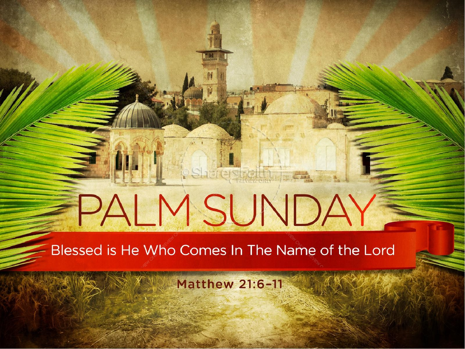 Palm Sunday Bible Sermon PowerPoint | slide 1