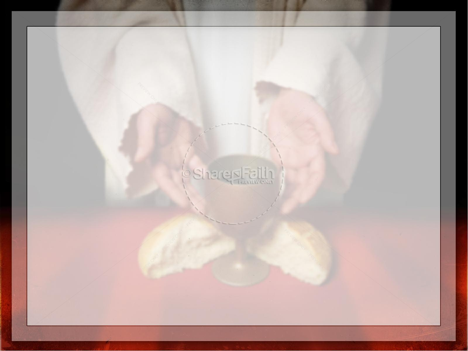 Communion PowerPoint Template | Easter Sunday Resurrection ...
