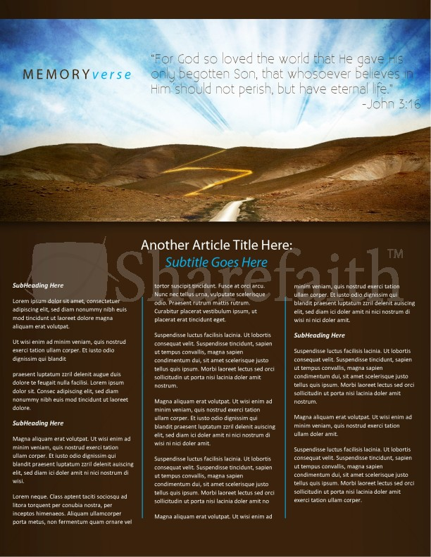 Pathway Church Newsletter Template