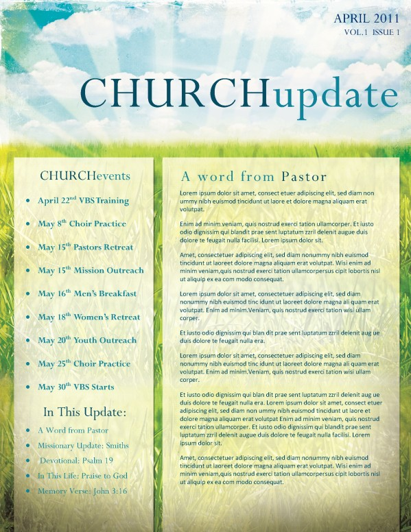 Easter Church Newsletter