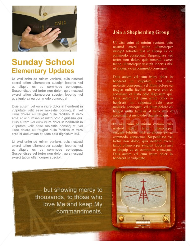 Television Church Newsletter