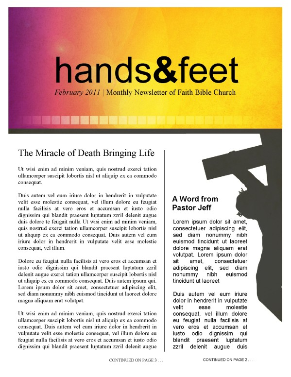 Jesus Cross Church Newsletter
