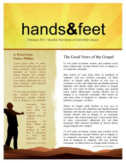 Worshipper Newsletter Template for Church