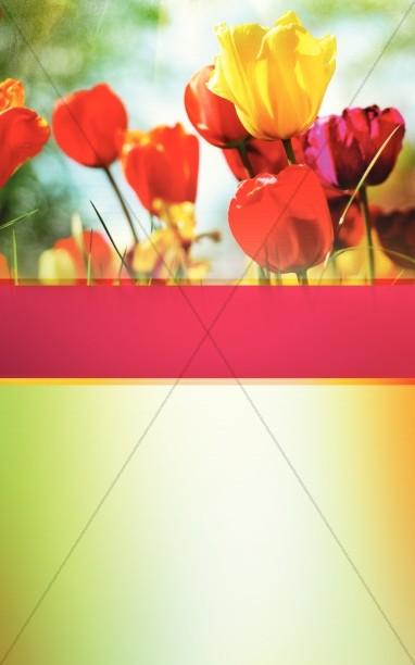 Easter Floral Church Bulletin