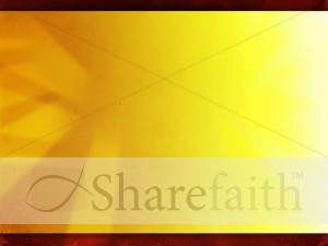 Yellow Abstract Worship Slide
