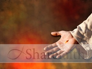 Jesus Hand Worship Background