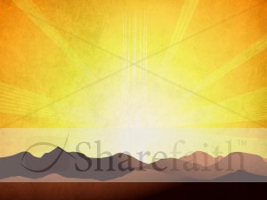 Sunrise Mountains Worship Background