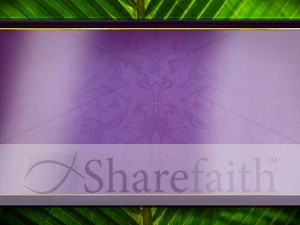 Palm Branches Worship Slide