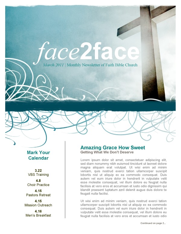 Amazing Grace Church Newsletter