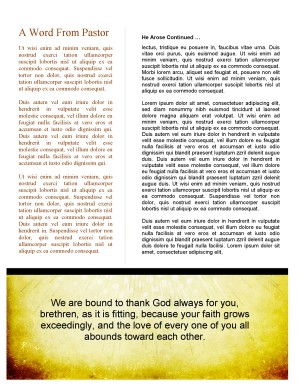 Easter Season Church Newsletter Template
