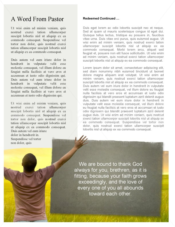 Worshipper Church Newsletter Template