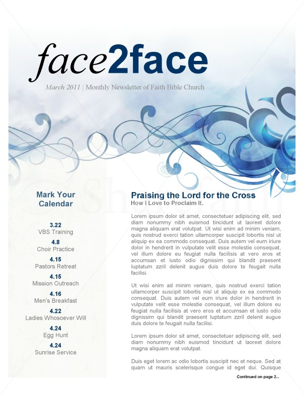 Spring Church Newsletter | page 1