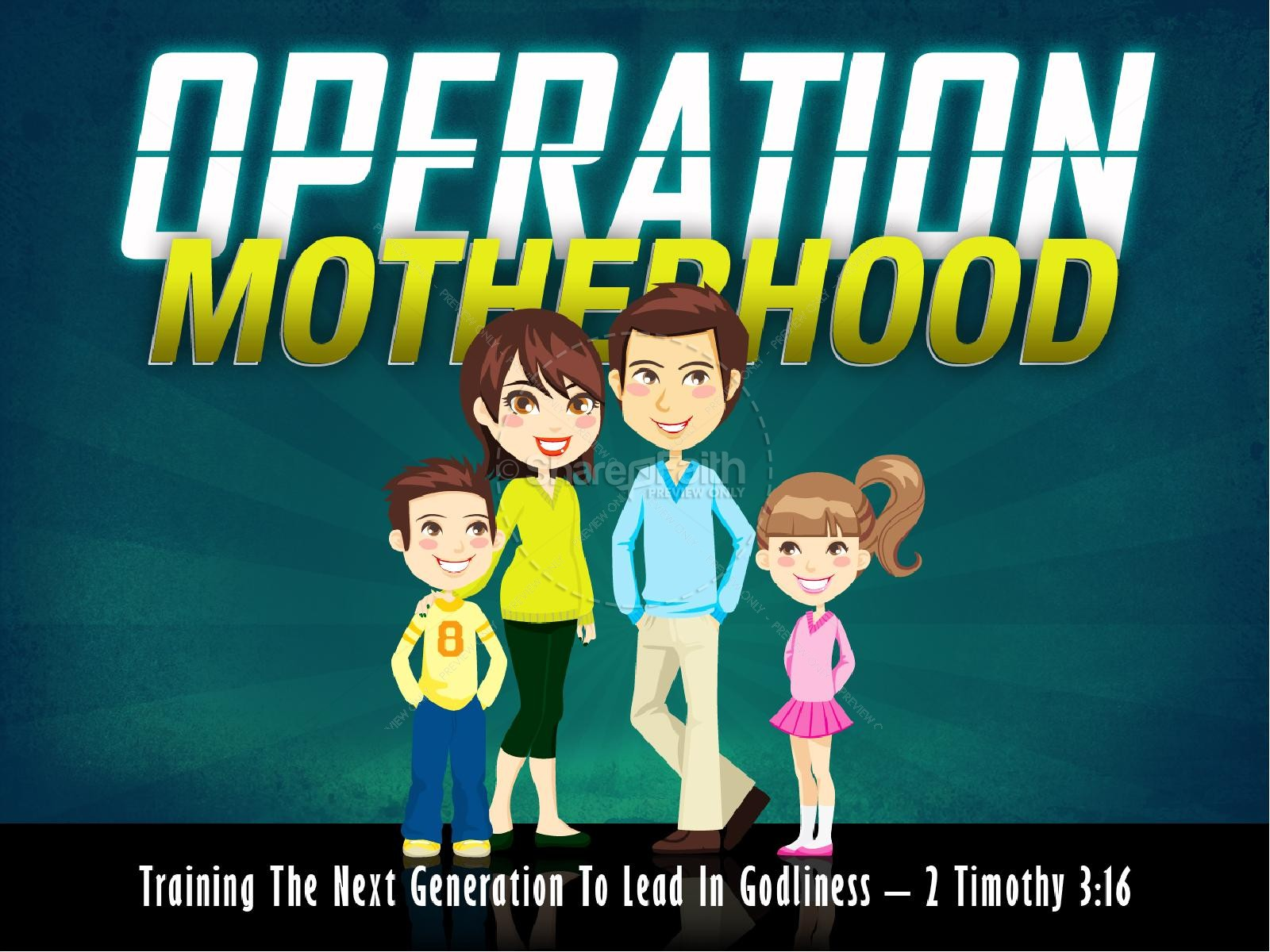 Operation Motherhood PowerPoint Template