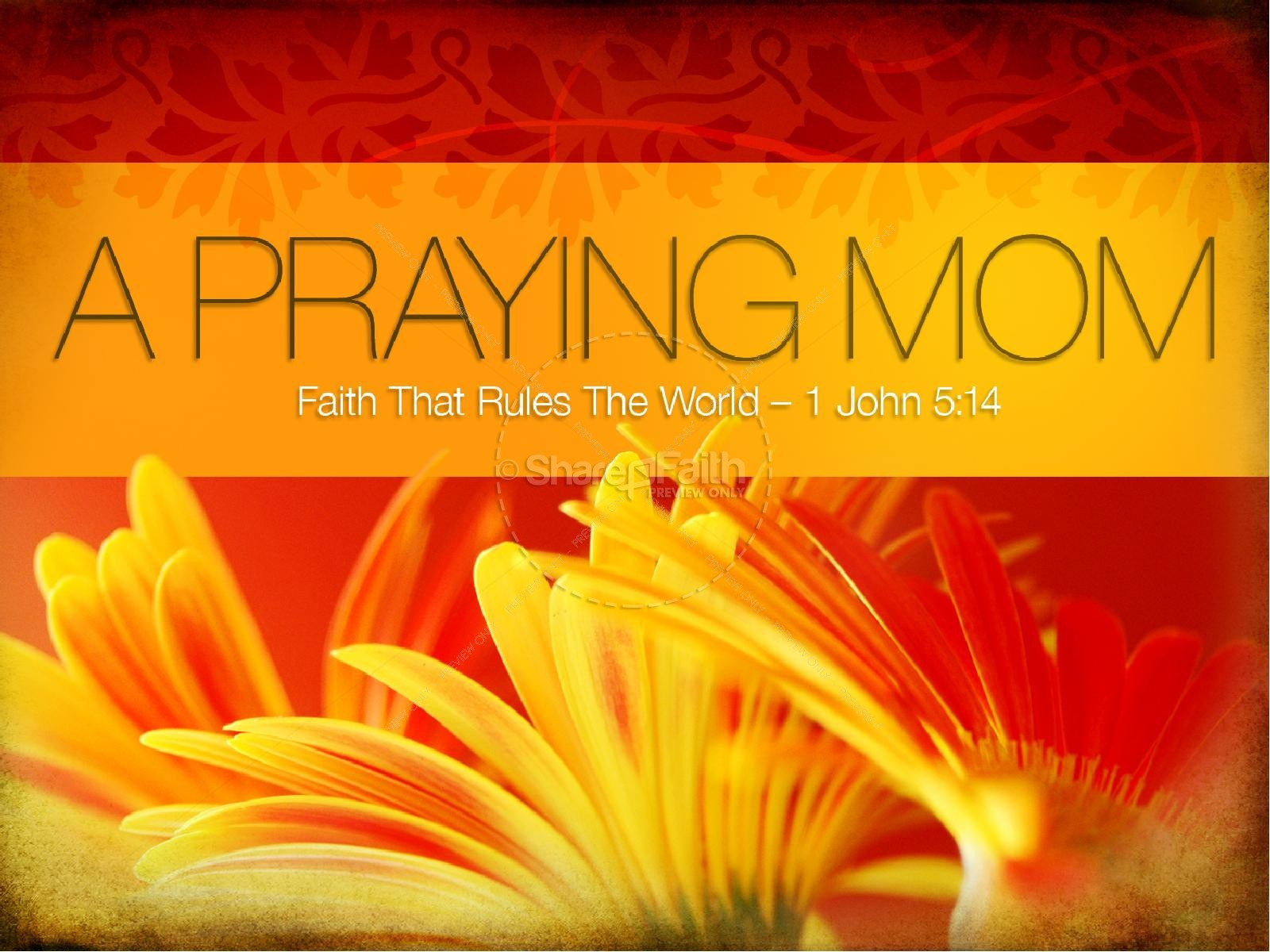 Praying Mom PowerPoint Template | slide 1