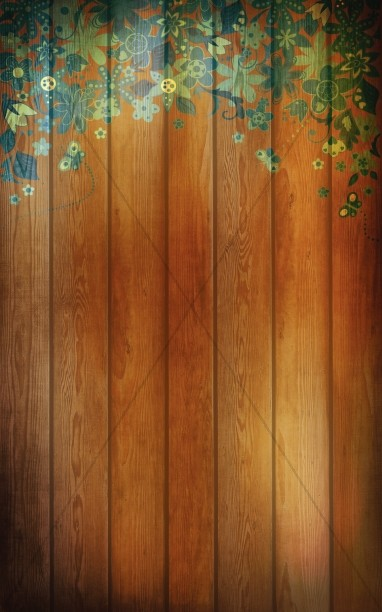 Wood Floral Bulletin Cover