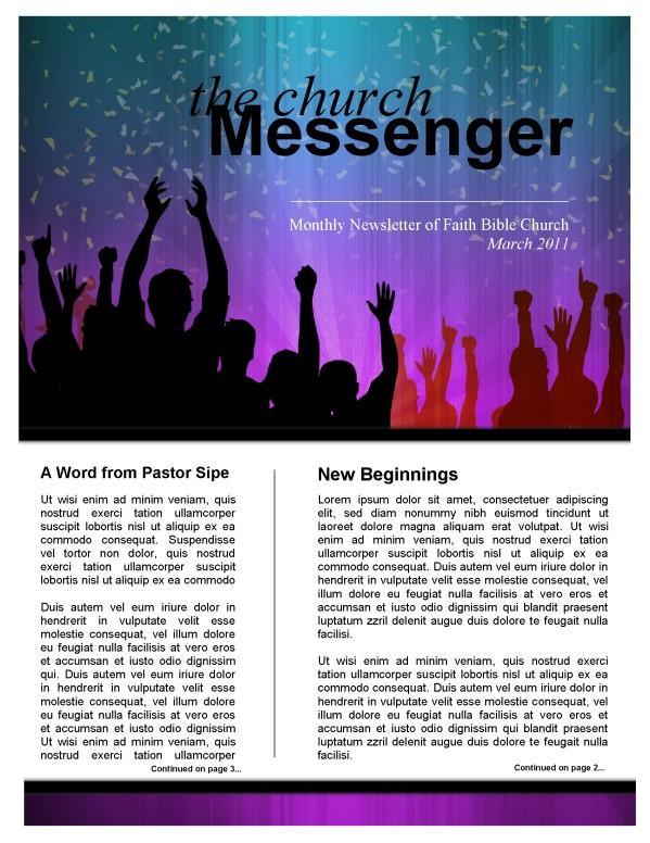 Celebration Church Newsletter Template