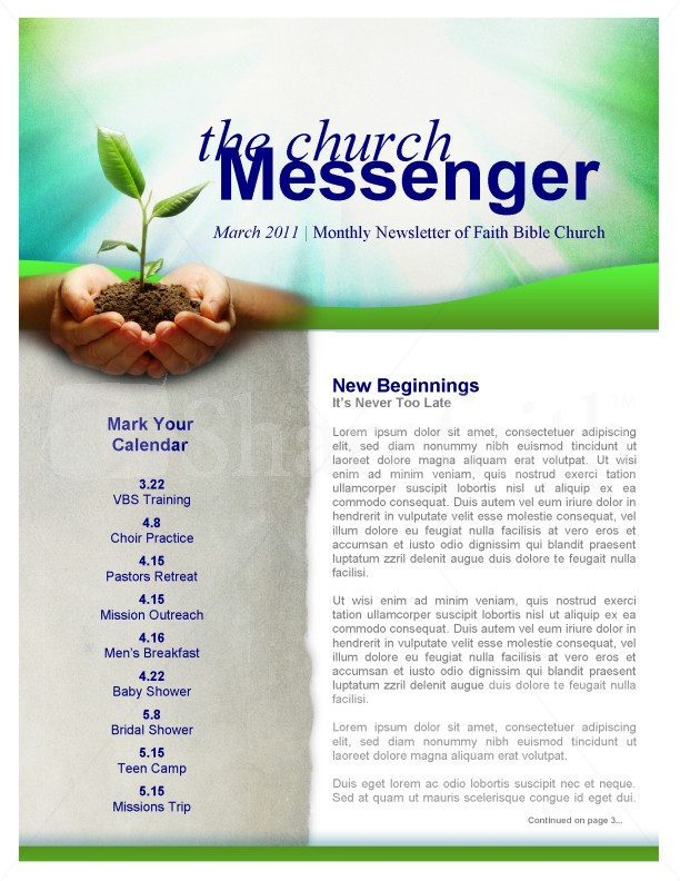 New Beginning Church Newsletter