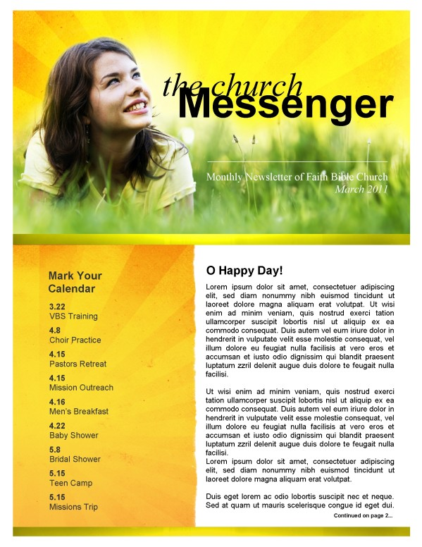 Joy Church Newsletter