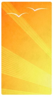 Yellow Rays Banner Widget