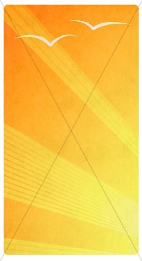 Yellow Rays Banner Widget