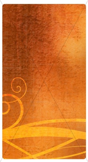 Orange Swirls Banner Widget