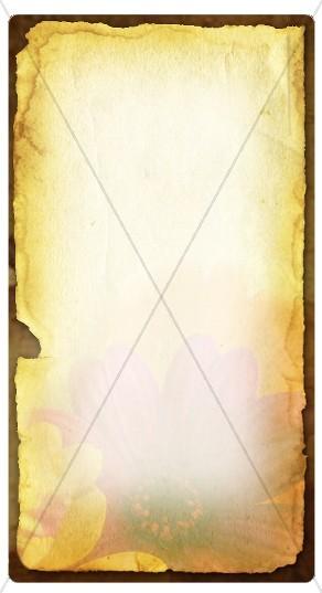 Floral Parchment Banner Widget