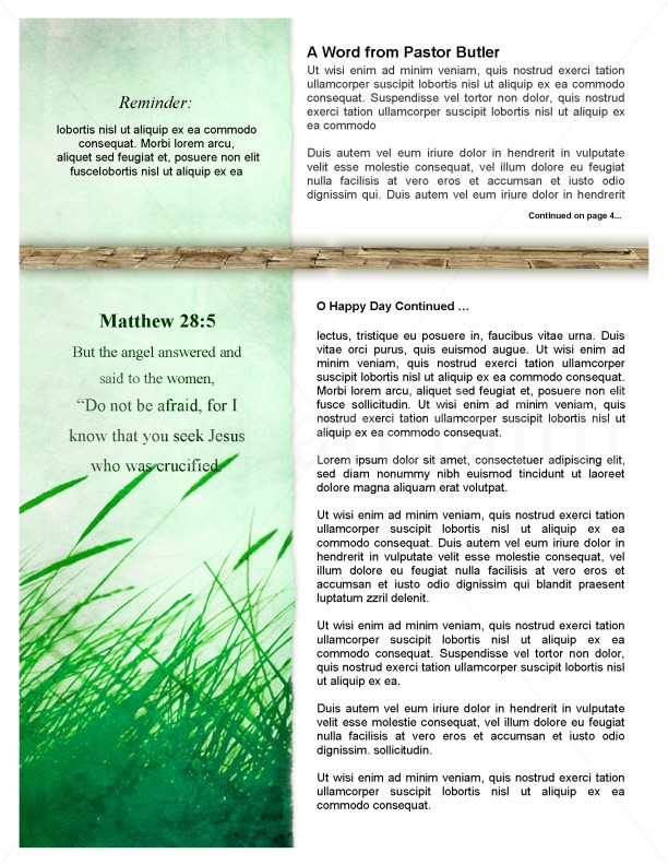 Resurrection Day Church Newsletter
