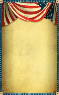 Stars and Stripes Church Bulletin Cover
