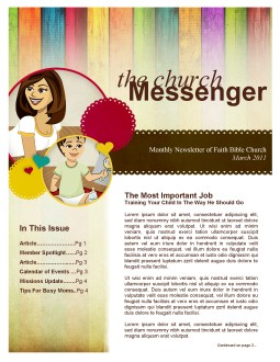 Mother's Day Church Newsletter