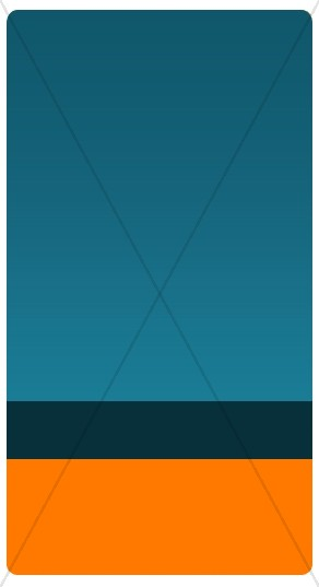 Blue and Orange Banner Widget