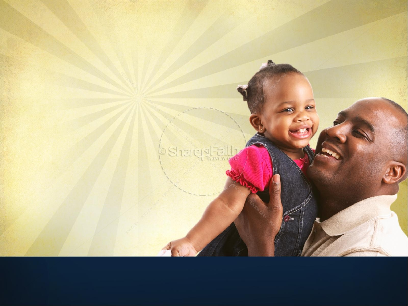 Joy of Fatherhood Sermon PowerPoint Template