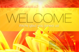 welcome flowers church loop church motion graphics