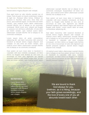 Forest Scene Church Newsletter