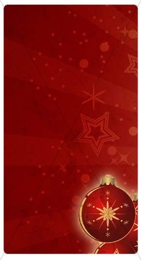 Red Ornament Banner Widget