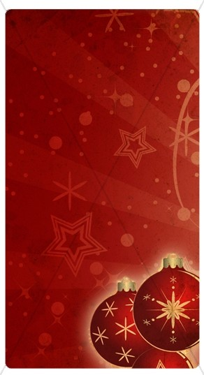Red Christmas Ornaments Banner Widget