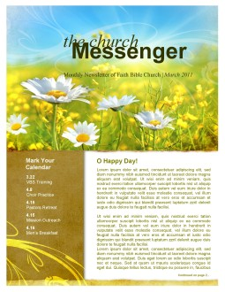 Spring Flowers Church Newsletter