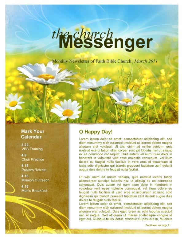 Spring Flowers Church Newsletter