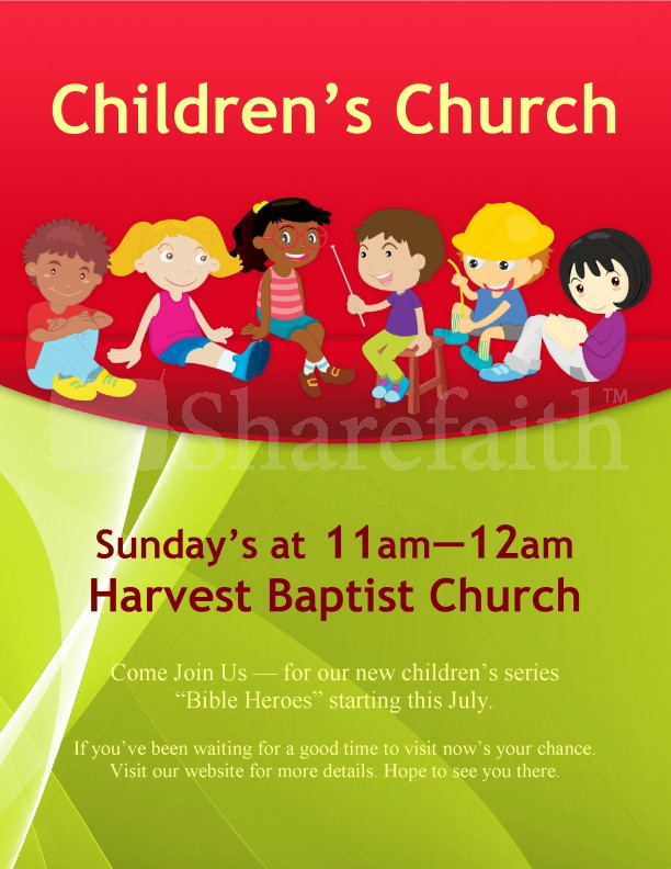 Children's Church Flyer | page 1