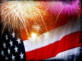 Fireworks Patriotic Worship Background