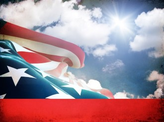Stars and Stripes Worship Background