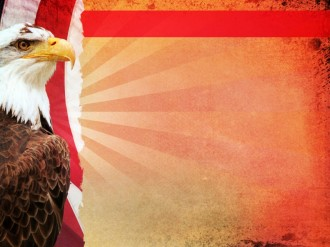 Patriotic Eagle Background