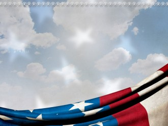 American Flag Worship Background