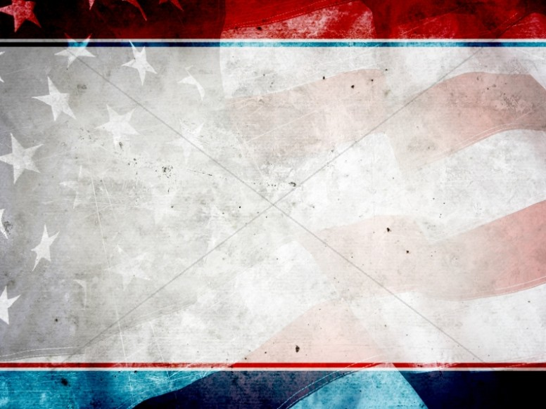 American Flag PowerPoint Background